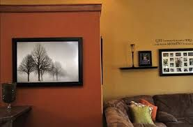 Chocolate Brown Paint Color Schemes Burnt Orange Accent Wall That Contrasts With The
