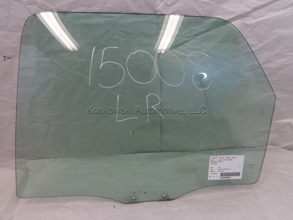 Ford Escape Rear Door Glass Window Left Driver Side Tinted 02 03 04 05 06 07 Ford Escape Glass Door Glass Window