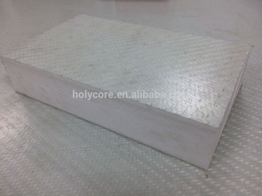 Light Weight Strong Pu Foam Laminated Fiberglass Sheet Gwt