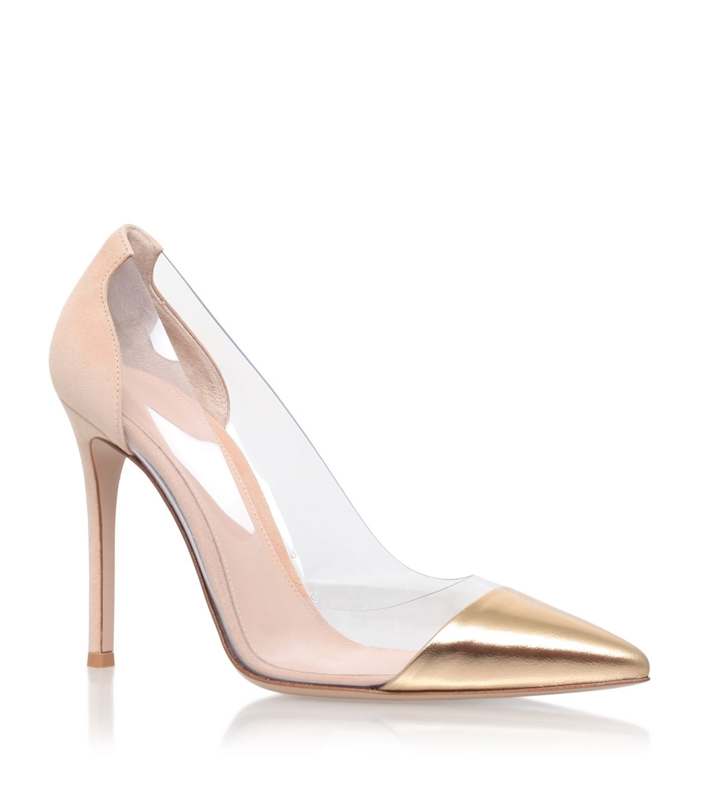 9b523178d26 Gianvito Rossi Leather Plexi Pumps 105 | Harrods.com | CHAUSSURES ...