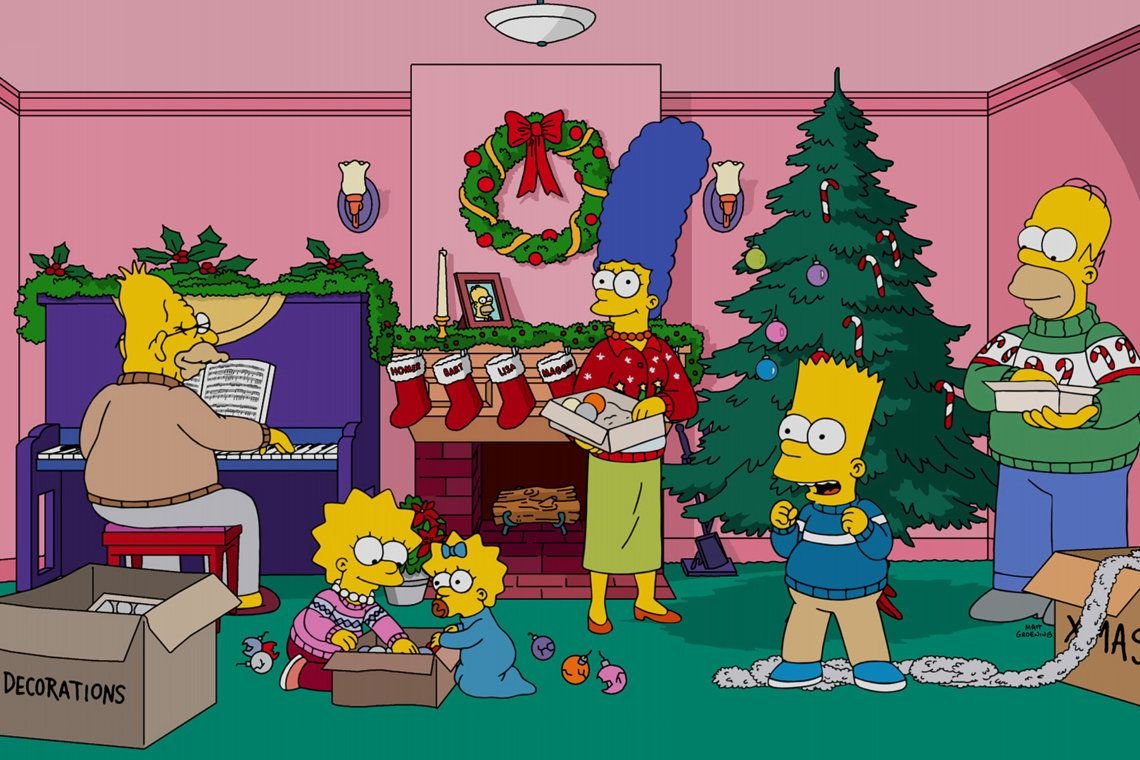 Image result for the simpsons christmas the simpsons