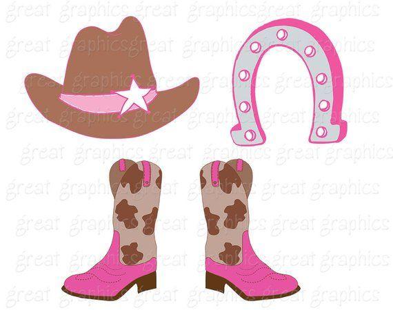 fc7b1e51815a9 Cowboy Clipart Cowgirl Clip Art Digital Clip Art Pink Cowgirl Cowboy Hat  Clipart Cowboy Boots Instan