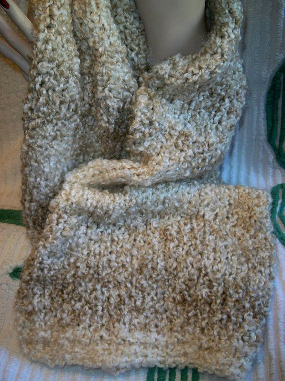chunky knit xlarge scarf wrap pearls homespun thick and quick yarn