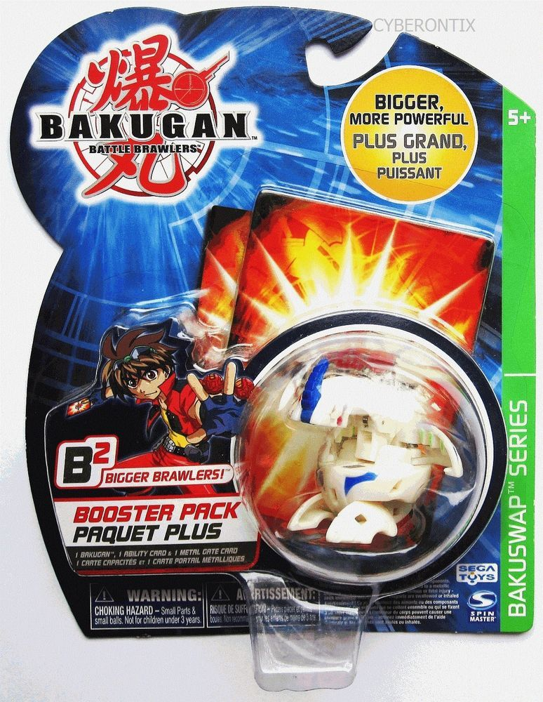 Bakugan White Dragonoid Battle Brawlers Toy Ball B2 Series