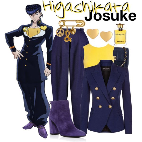 JoJo/'s Bizarre Adventure Josuke Higashikata Cosplay Costume Outfit Suit Uniform