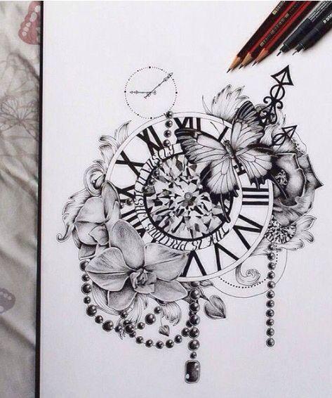 574743c355027 Leg Tattoos, Compass Tattoo, Tattoo Designs, Tatting, Tatto Designs, Design  Tattoos