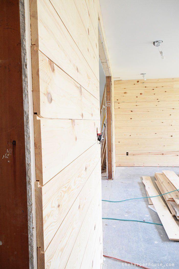 flip house update it s shiplap week the harper house on what is a wall id=69790