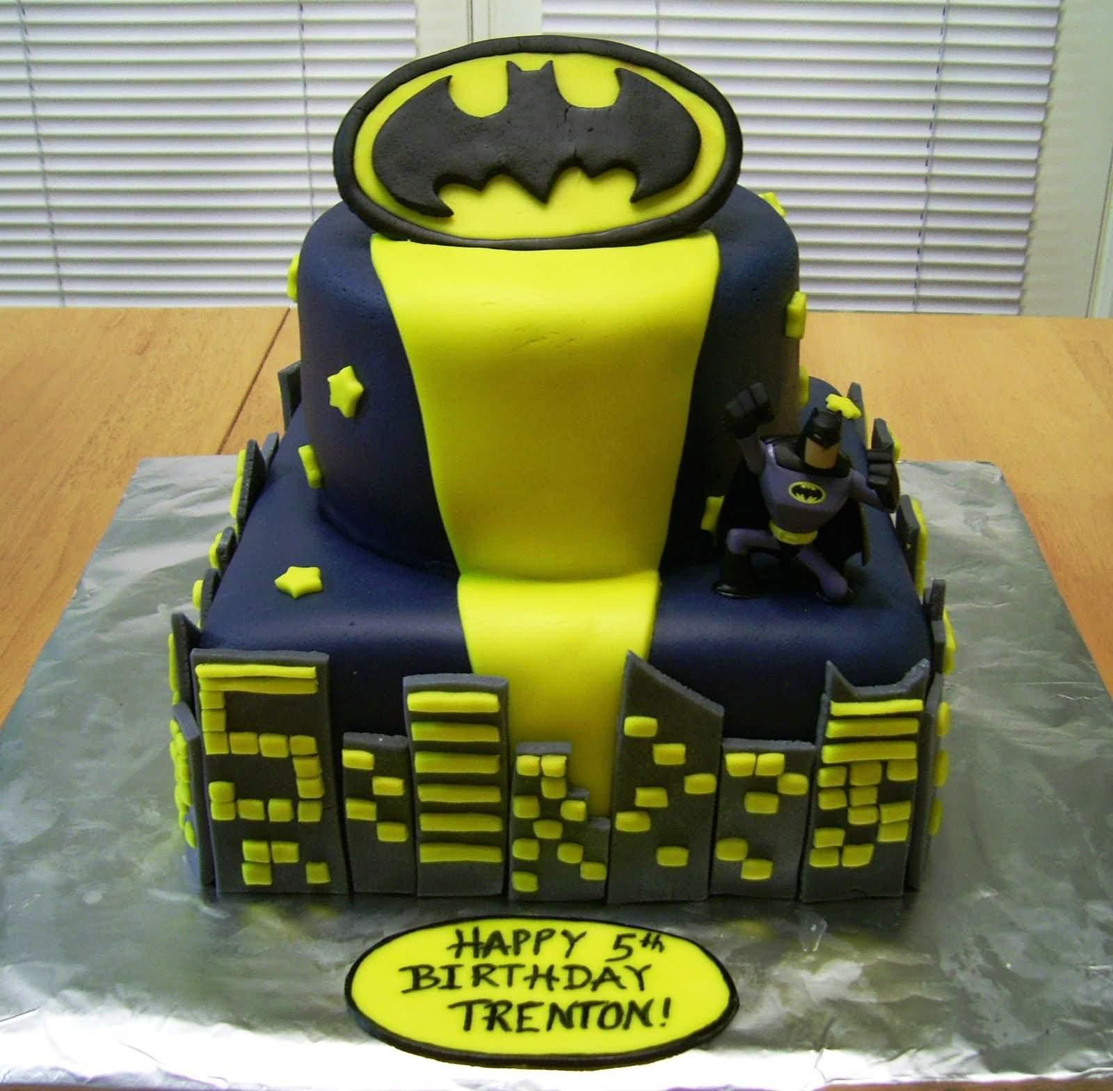 Image Of Batman Birthday Cake Pictures
