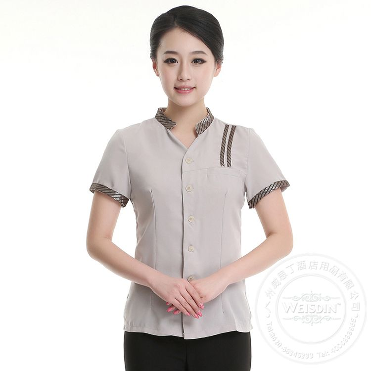 High quality slim cut hotel uniform housekeeping cleaning for Spa uniform suppliers south africa