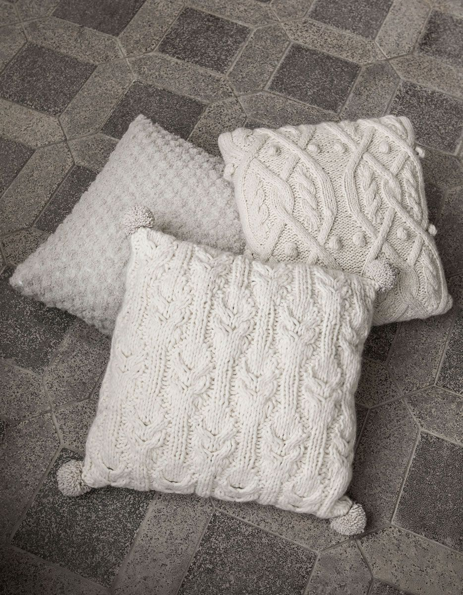 kissenh lle im zopf noppenmuster alta moda superbaby filati handstrick no 62 home. Black Bedroom Furniture Sets. Home Design Ideas