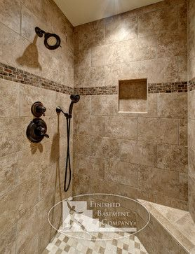 Earth tone shower gardens pools yards landscapes wish for Earth tone bathroom ideas