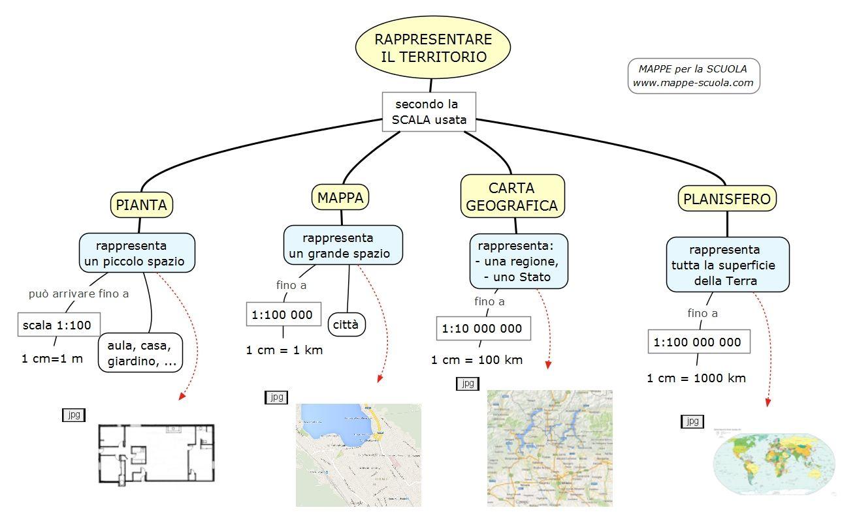 Mappa Concettuale Su La Pianta La Mappa La Carta Geografica