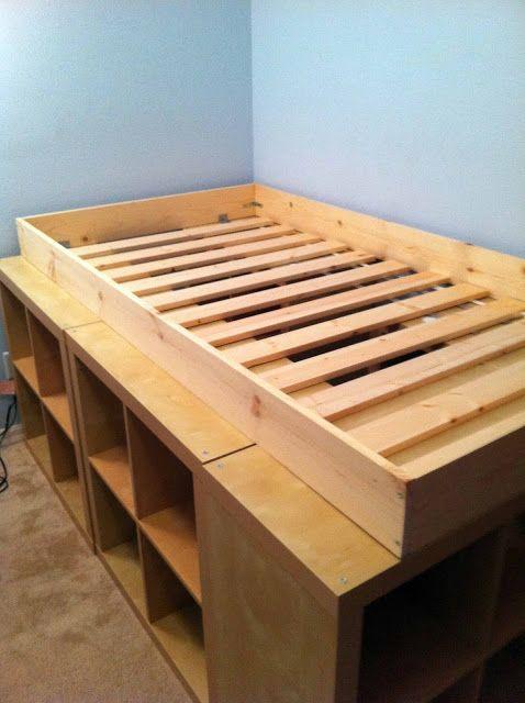 Expedit Storage Bed Ikea Bed Diy Bed Bed Storage