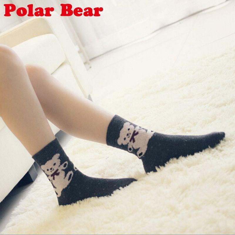 Largos calcetines calientes para mujeres invierno 5 colores de ...