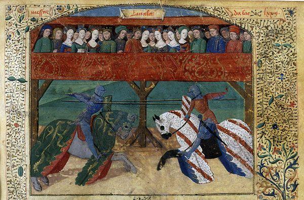 Tristan devient un chevalier de la table ronde pris d - Lancelot et les chevaliers de la table ronde ...