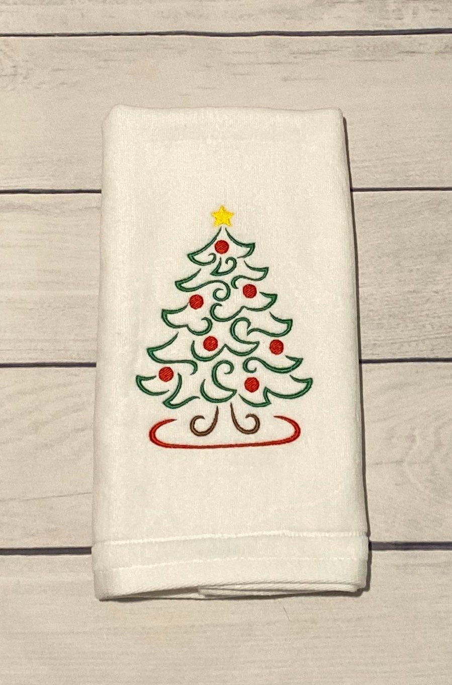 Excited To Share This Item From My Etsy Shop Christmas Towel Luxury Guest Hand Towel Embroidered Bathroom De Christmas Towels Guest Hand Towels Luxury Towels