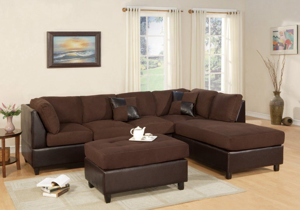 Sacramento Microfiber Sectional with Reversible Chaise and ...