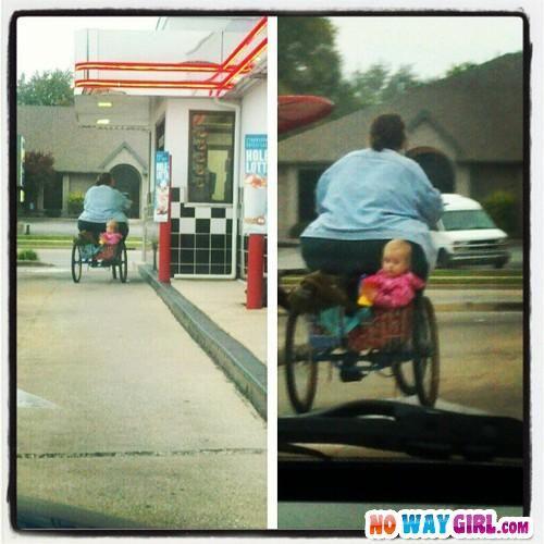 Baby In Basket At Drive-Thru