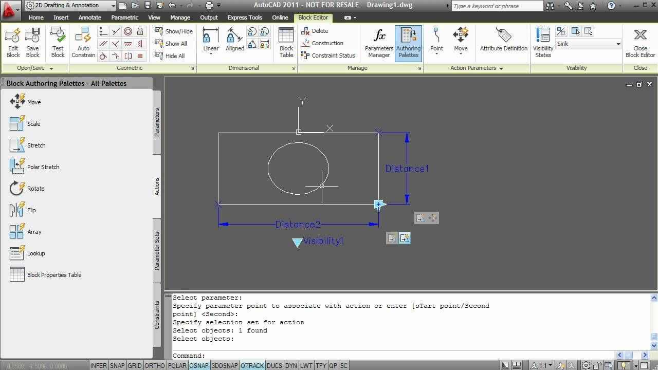 AutoCAD Dynamic Block Tutorial | acad | Autocad
