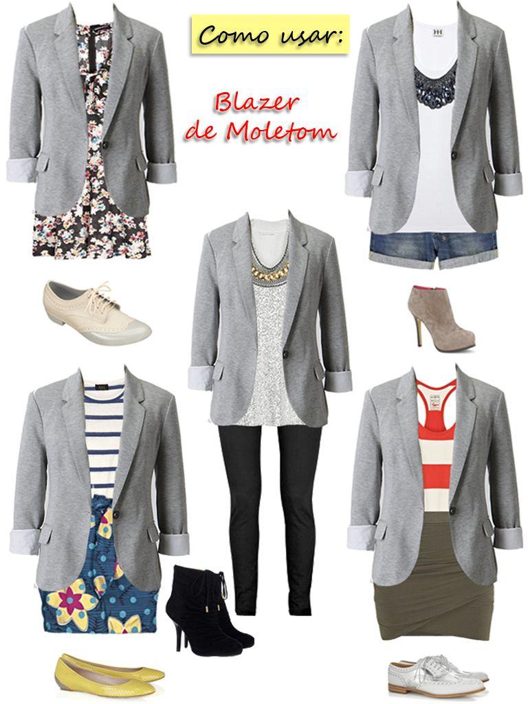 c6570f27b Blazer moletom cinza II ♥ | Looks em 2019 | Fashion, Look casual ...