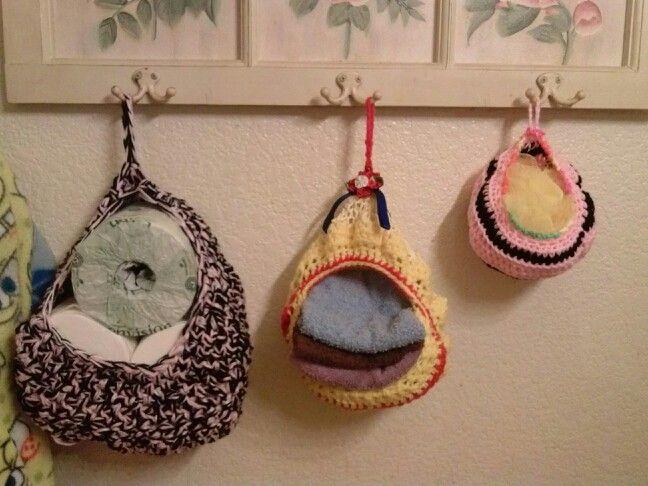 My Crochet hanging baskets