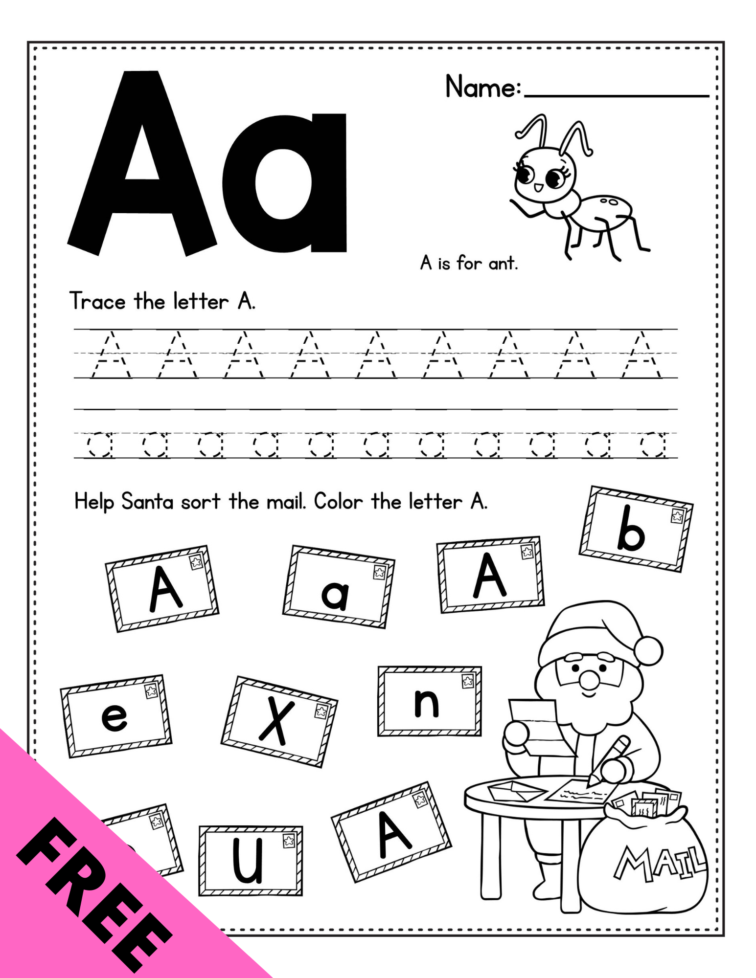 small resolution of FREE Christmas Worksheets for Kindergarten   Christmas worksheets  kindergarten