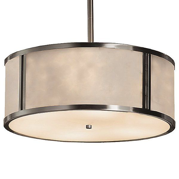 Justice Design Group Clouds Tribeca Drum Pendant Light Cld 9542