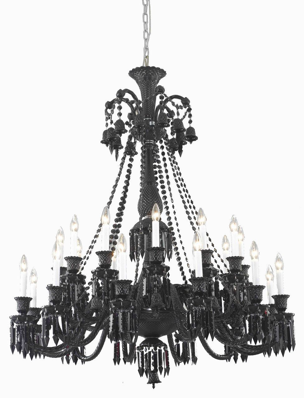 Majestic 24 light jet black chandelier in black finish 8924g44b jt majestic 24 light jet black chandelier in black finish 8924g44b jtec mozeypictures Images