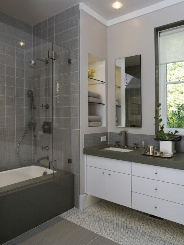 Une salle de bains grise - élégance et chic contemporain - Archzinefr