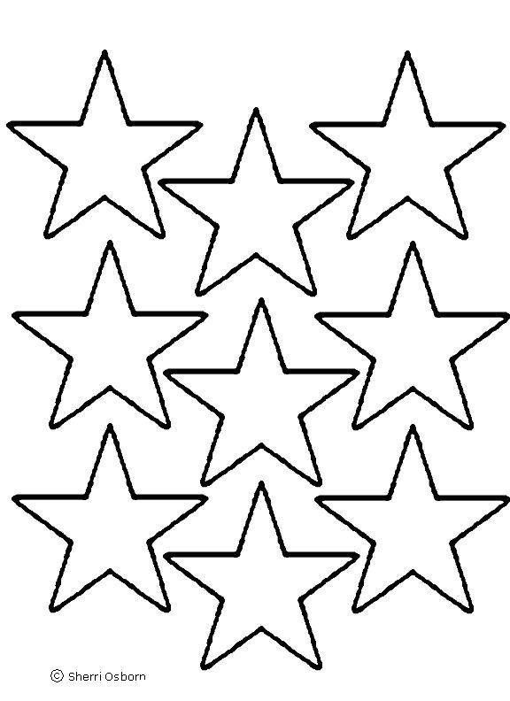 Nine Christmas Star Is Cool And Nice Coloring Page