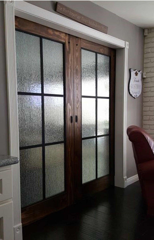 Beautiful Glass Barn Doors Etsy Glass Barn Doors French Doors Interior Wood Doors Interior