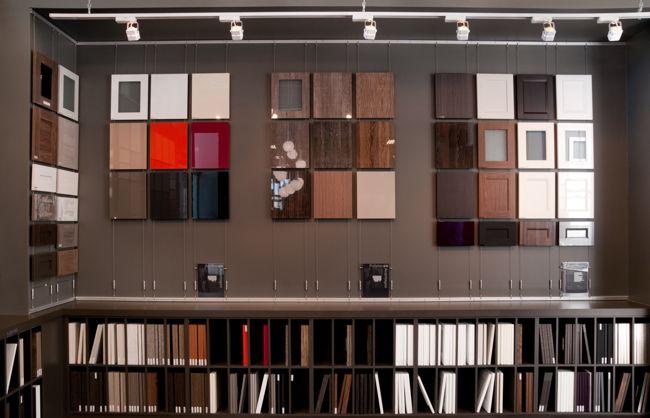 Kitchen Cabinet Showrooms Concrete Sink Retail Fixture Display Of Cabinets Showroom In
