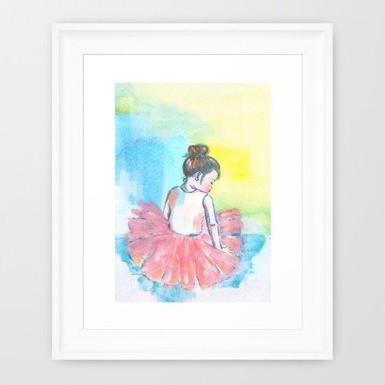 Little+Girl+Ballerina+painting+Framed+Art+Print+by+Imago+Dei+Nursery ...