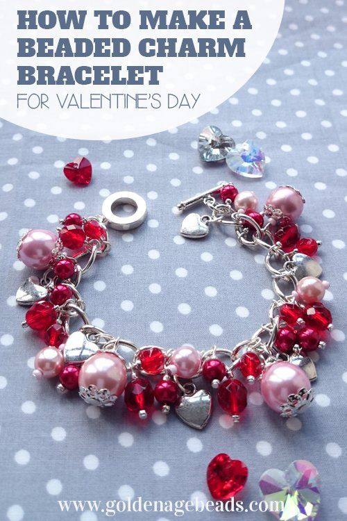 Photo of DIY Beaded Charm Bracelet Project for Valentine's Day | Golden Age Beads