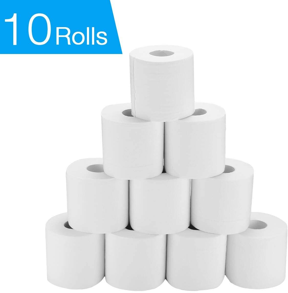 Toilet Paper 19 99 10 Rolls Toilet Paper 4 Ply Embossed Toilet Paper Rolls Soft Jumbo Rolls Commercial Individually Wrap In 2020 Toilet Paper Roll Paper Paper Rolls