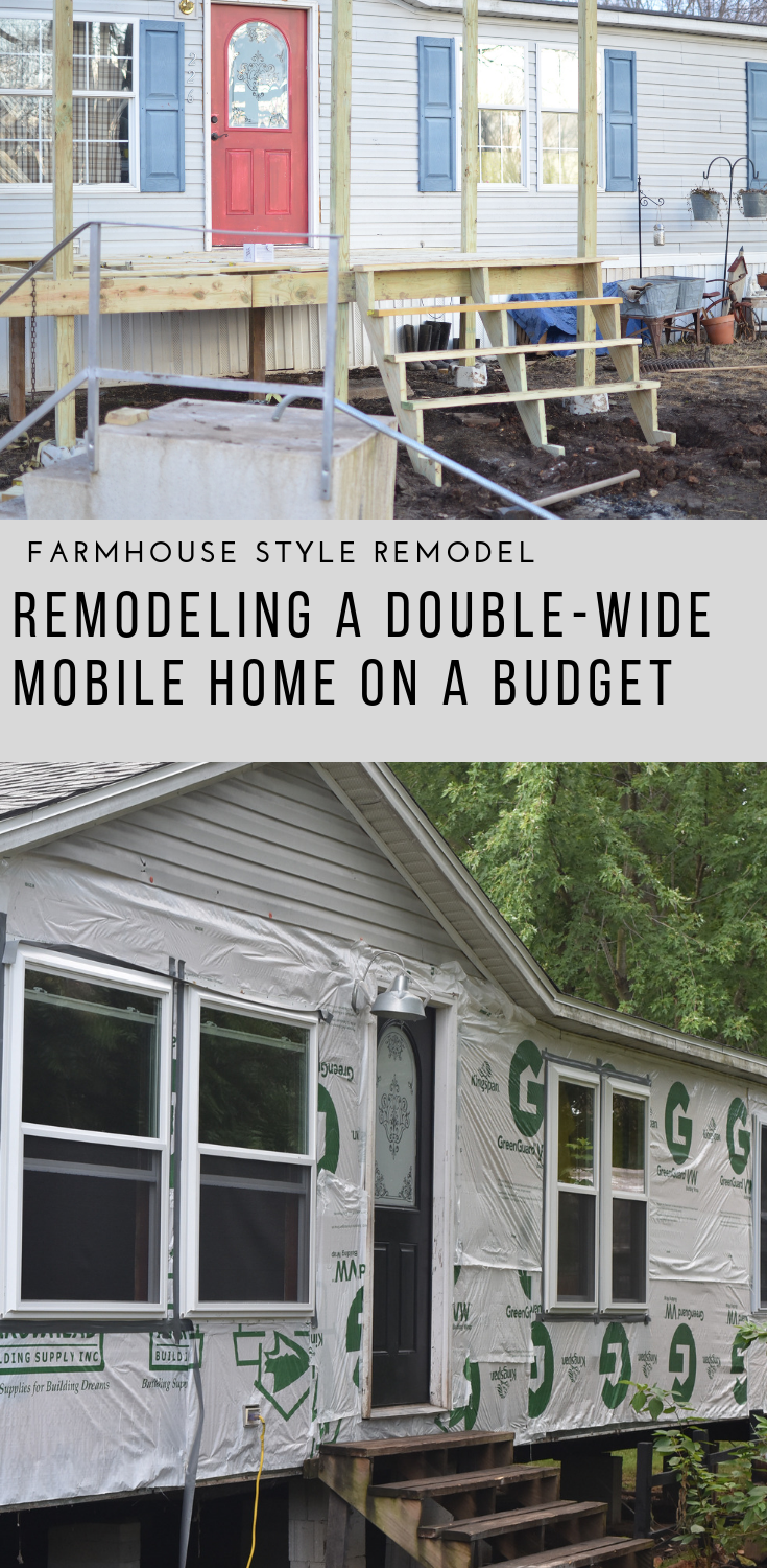 Remodeling A Double Wide Mobile Home Mobile Home Exteriors Home Exterior Makeover Remodeling Mobile Homes