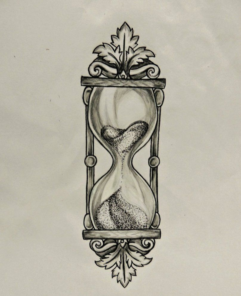 Hourglass drawing  Prismacolor Scholar pencil drawing. Done on request as a tattoo ...