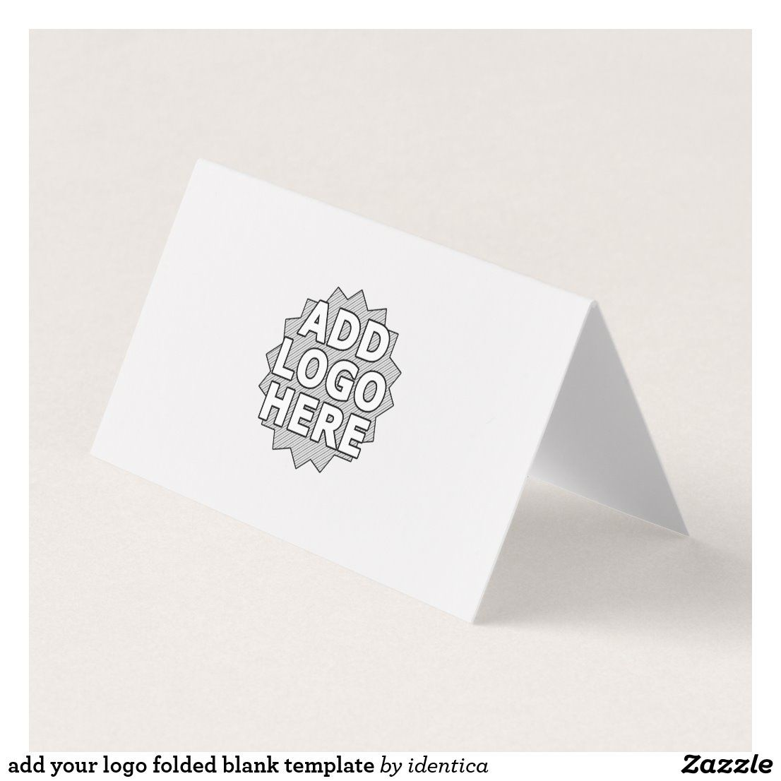 Add Your Logo Folded Blank Template Business Card Folded Business Cards Discount Card Business Card Design