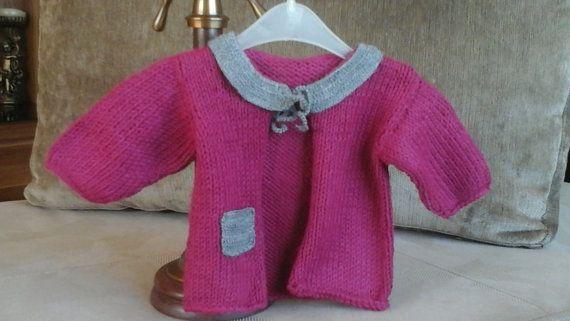 Baby Cardigan-25% wool-handmade-vibrant colors by WooolBaby
