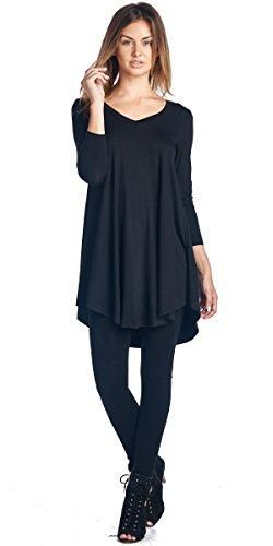 f1e92b04f60 Tunic tops for women to wear with leggings in plus size and regular sizes -  Long Tunic Top Can Also be Worn As A Short Dress - Casual Super Comfortable  ...