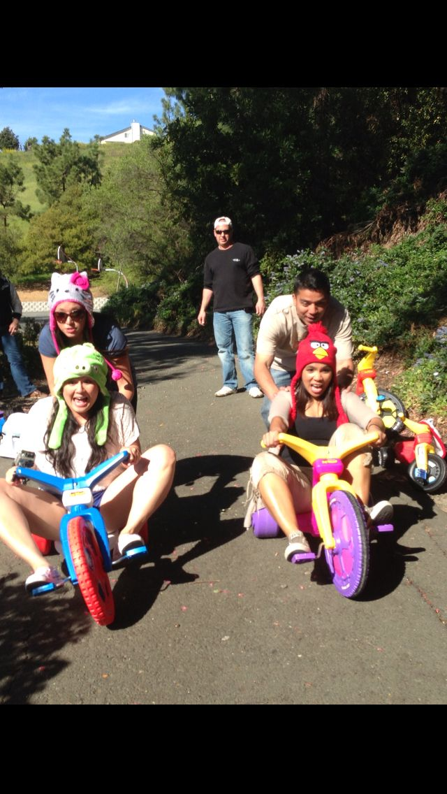 Big Wheel Race. Love it