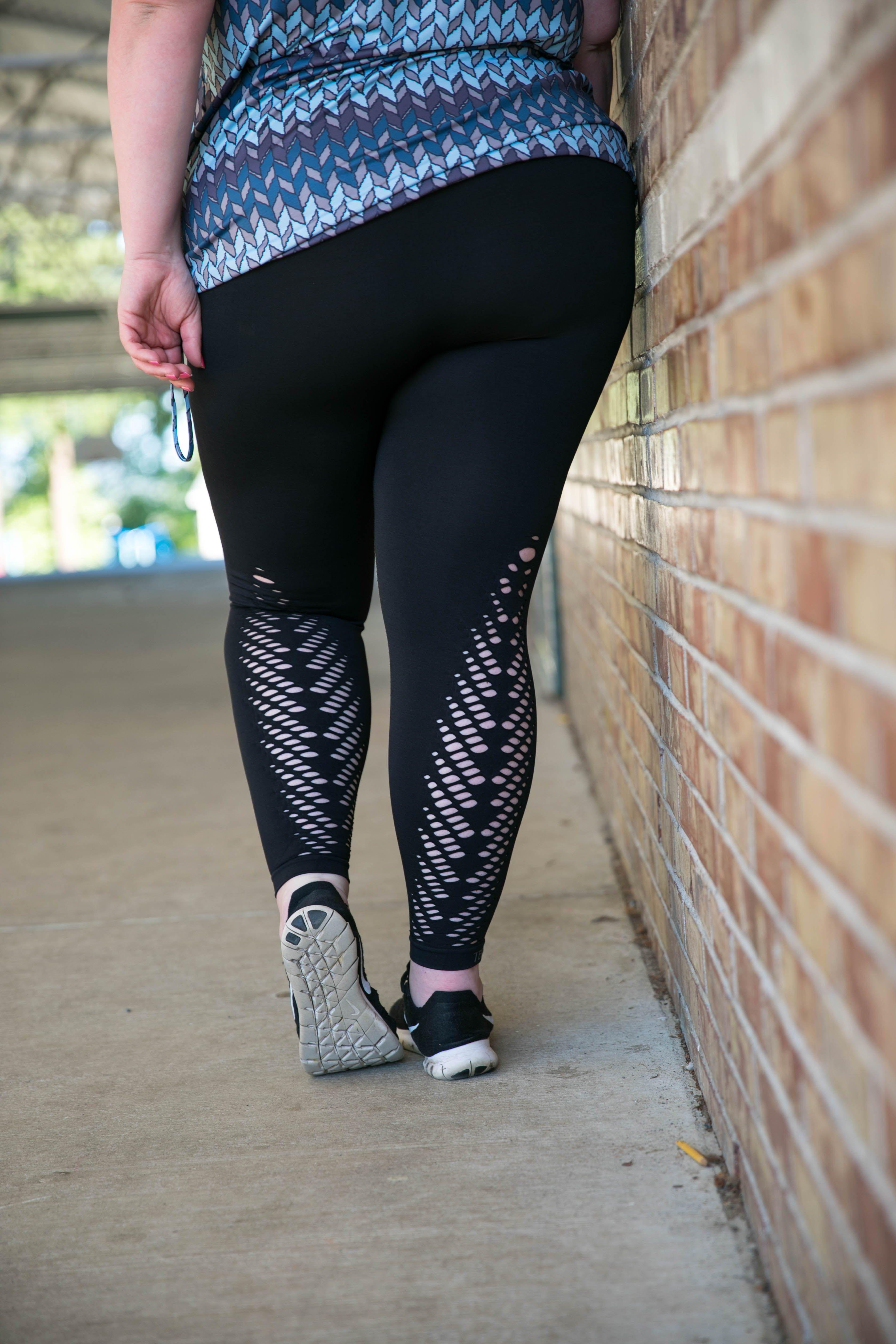 7bc12589773 TEMA Athletics Leaf Detail Tummy Tuck Leggings  activewear  fitness   tanktop  rosegold