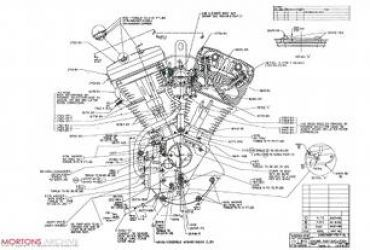 370x250 harley davidson evolution engine exploded view. Black Bedroom Furniture Sets. Home Design Ideas