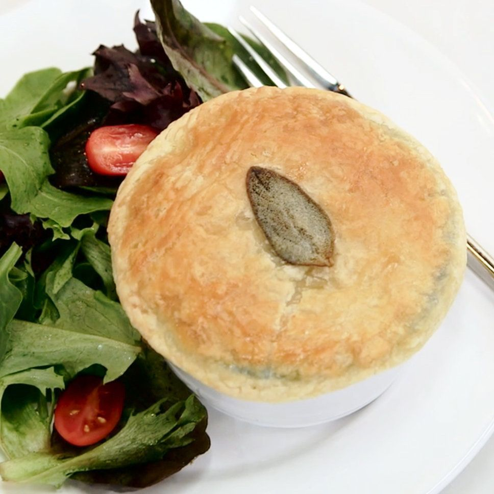 By using lots of fresh vegetables, you can boost the health factor of aclassic comfort food. Watch this video for a demonstration on how to make single-serve, mini chicken pot pies.