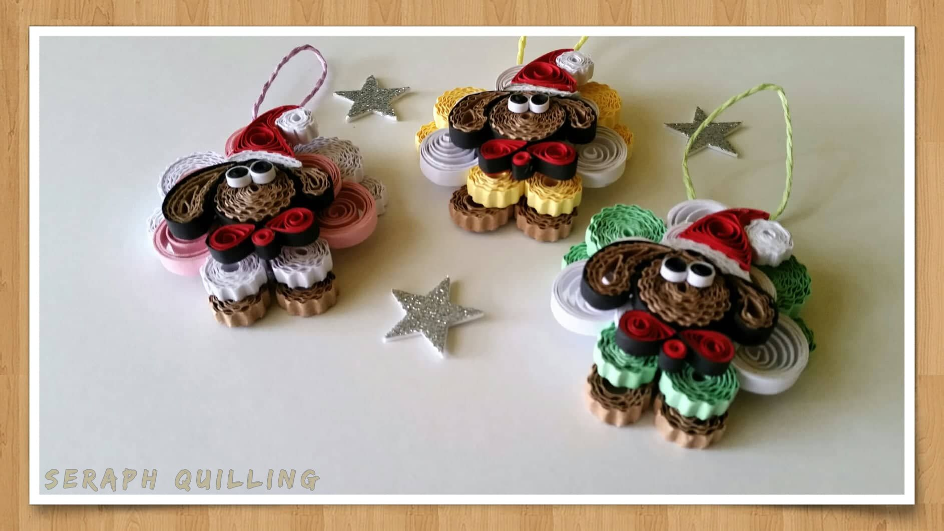 Christmas Quilled Sheep Set Of 3 Assorted Sheep Quilling Ornament Handmade Envelopes Quilling Christmas Ornaments