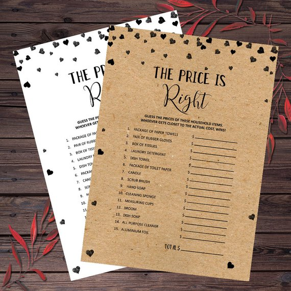 4b9b80043adb The Price Is Right Bridal Shower Games Printable Guess the Price Bridal  Shower Game Idea Instant Dow