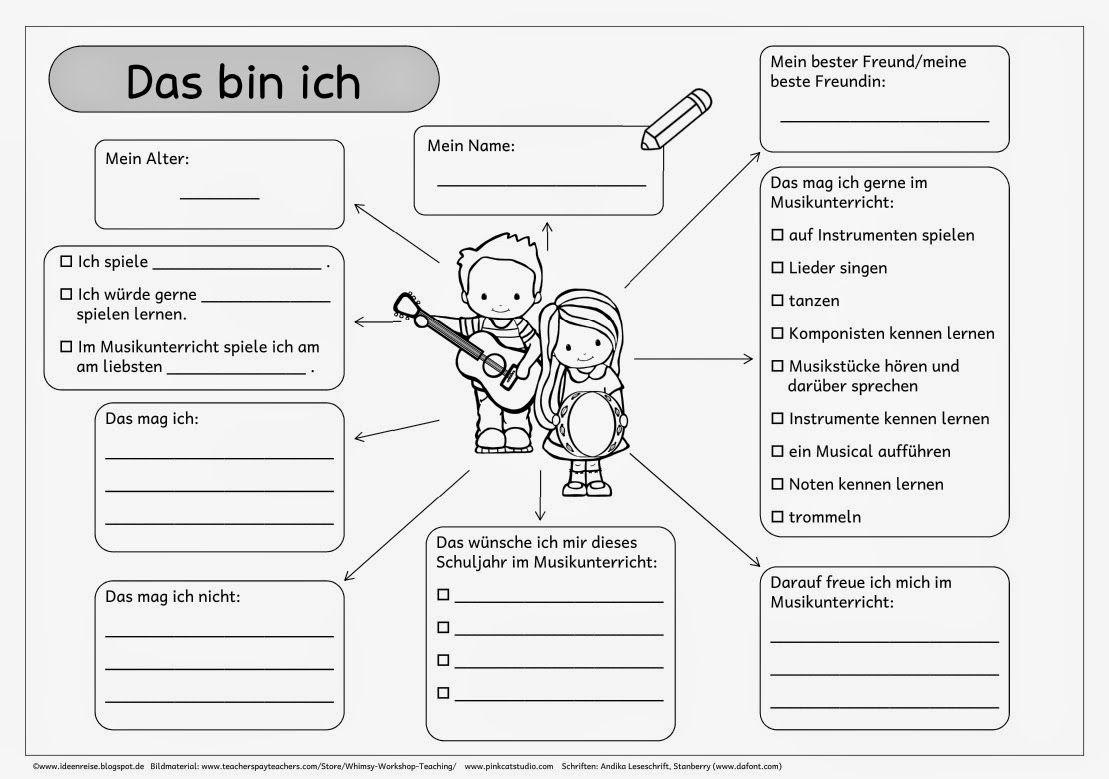 Das Bin Ich Arbeitsblatt Kindergarten