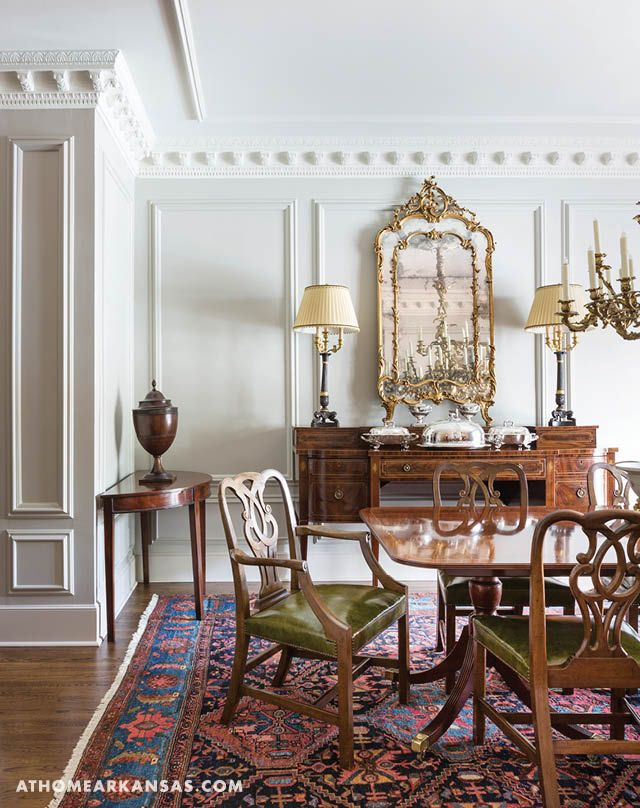 Historical Influence At Home In Arkansas Traditional Formal Dining Room Stylish Dining Room Dining Room Paint