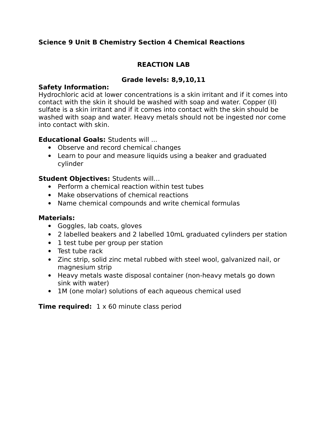 hight resolution of Science Observing Chemical Reactions High School Lab Resource Preview    Education elementary math