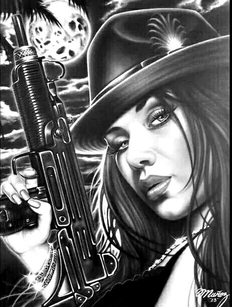 Gangster Girl Chicano Art Lowrider Art Chicano Drawings